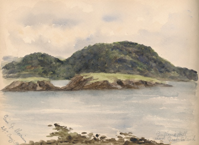 Gallows Hill and Goat Island  24 August 1900