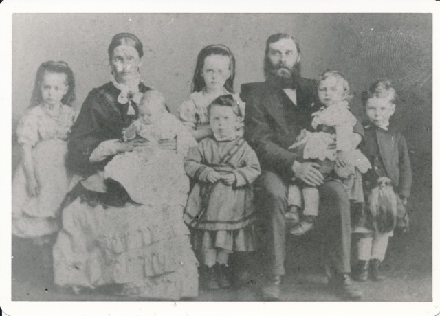 Charles, Christina and family c.1880 - Copy