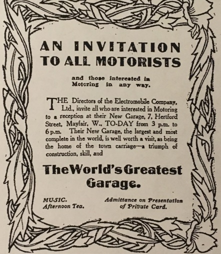 Advert Nov 1907