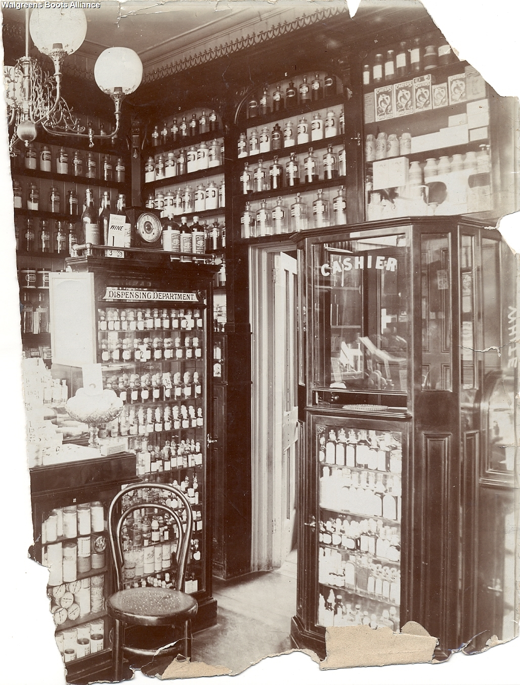 Boots Archive Weybridge interior 1930s